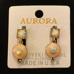 Aurora Borealis Swarovski Crystal Earrings